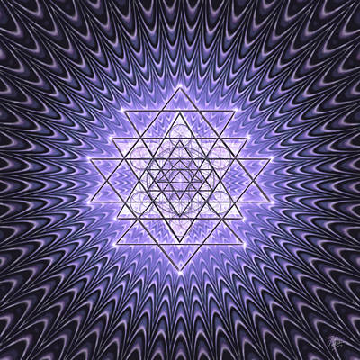 Digital Art - Sacred Geometry 141 In Purple by Endre Balogh