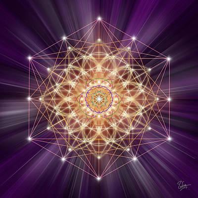 Digital Art - Sacred Geometry 155 by Endre Balogh