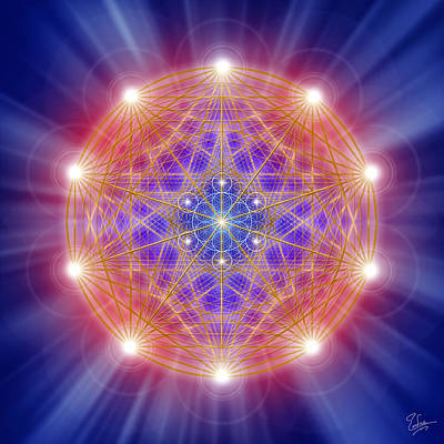 Digital Art - Sacred Geometry 168 by Endre Balogh