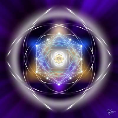 Digital Art - Sacred Geometry 196 by Endre Balogh