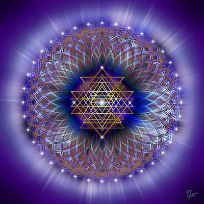 Digital Art - Sacred Geometry 243 by Endre Balogh