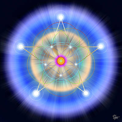 Digital Art - Sacred Geometry 26 by Endre Balogh