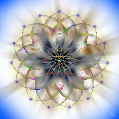 Drawing - Sacred Geometry 263 by Endre Balogh
