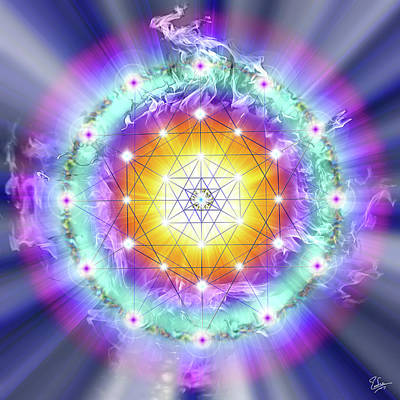 Digital Art - Sacred Geometry 28 by Endre Balogh