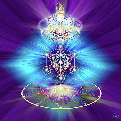 Digital Art - Sacred Geometry 30 by Endre Balogh