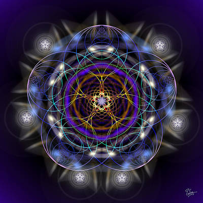 Sacred Geometry 324 Original by Endre Balogh