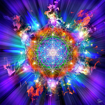 Digital Art - Sacred Geometry 37 by Endre Balogh