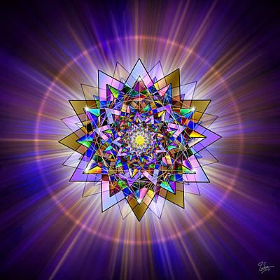 Digital Art - Sacred Geometry 386 by Endre Balogh
