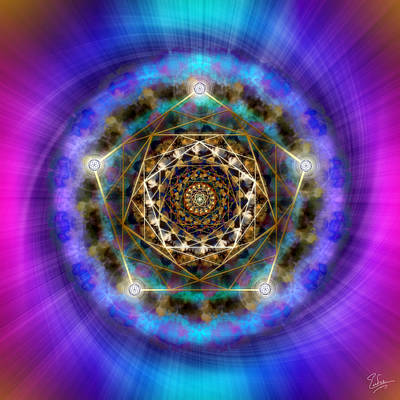 Photograph - Sacred Geometry 388 by Endre Balogh