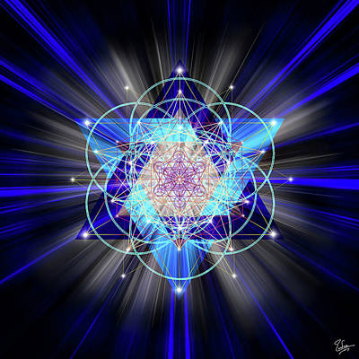 Digital Art - Sacred Geometry 42 by Endre Balogh