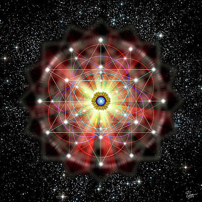 Digital Art - Sacred Geometry 45 by Endre Balogh
