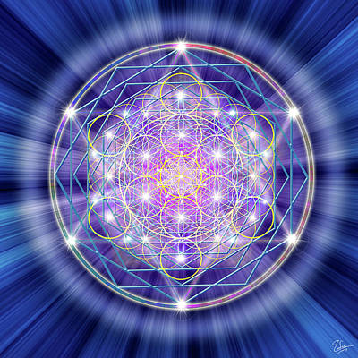 Digital Art - Sacred Geometry 46 by Endre Balogh