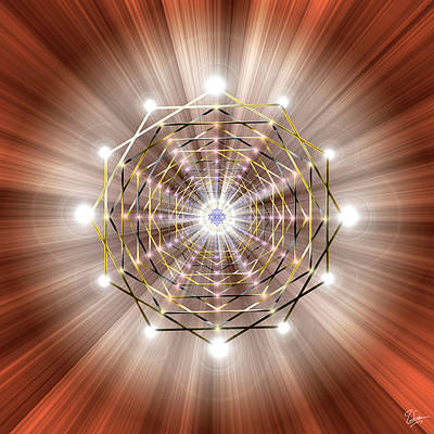 Digital Art - Sacred Geometry 49 by Endre Balogh