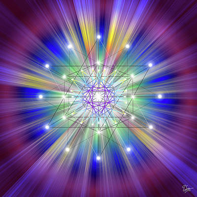 Digital Art - Sacred Geometry 50 by Endre Balogh