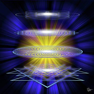 Digital Art - Sacred Geometry 53 by Endre Balogh