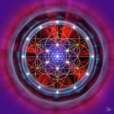 Digital Art - Sacred Geometry 58 by Endre Balogh