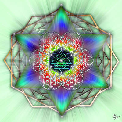 Digital Art - Sacred Geometry 65 Number 3 by Endre Balogh