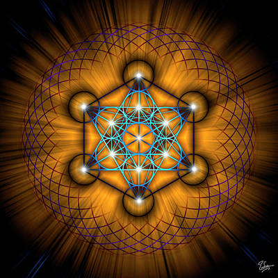 Digital Art - Sacred Geometry 68 by Endre Balogh