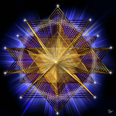 Digital Art - Sacred Geometry 91 by Endre Balogh