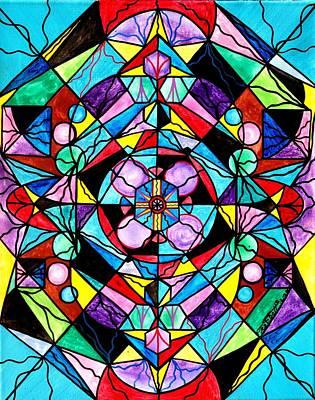 Grid Painting - Sacred Geometry Grid by Teal Eye  Print Store