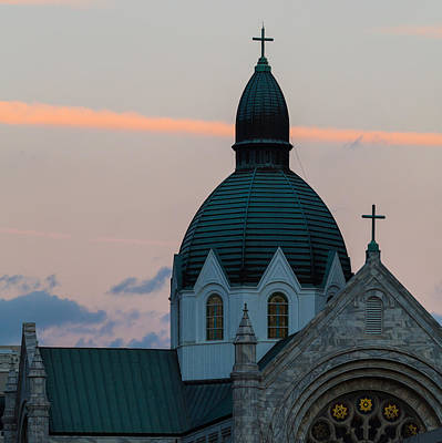 Photograph - Sacred Heart At Sundown by Ed Gleichman