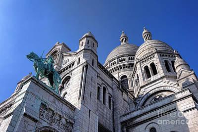 Sacre Coeur Photograph - Sacred Heart Basilica  by Olivier Le Queinec