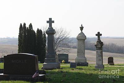 Photograph - Sacred Heart Catholic Cemetery by Kathy Cornett