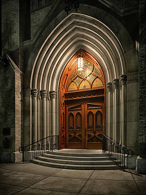 Photograph - Sacred Heart Door by Dennis James