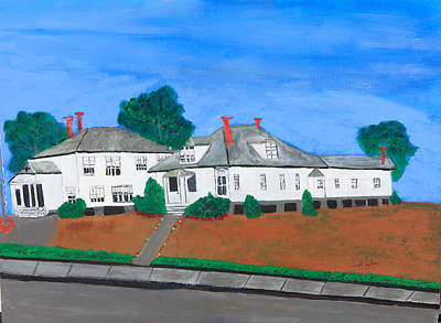 Painting - Sacred Heart Ele. Schooland Convent by Swabby Soileau