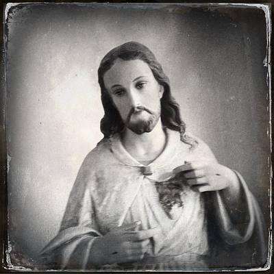 Jesus Photograph - Sacred Heart by H James Hoff