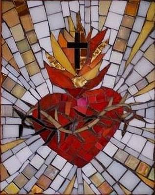 Mixed Media - Sacred Heart by Julie Mazzoni