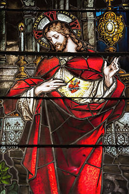 Son Of God Photograph - Sacred Heart Of Jesus by Bonnie Barry