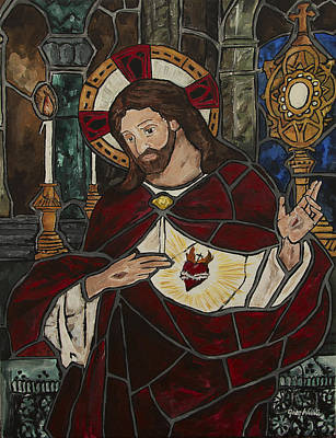 Sacred Heart Of Jesus Art Print by Greg Willits