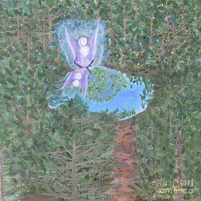 Art Print featuring the painting Sacred Oasis by Cheryl Bailey
