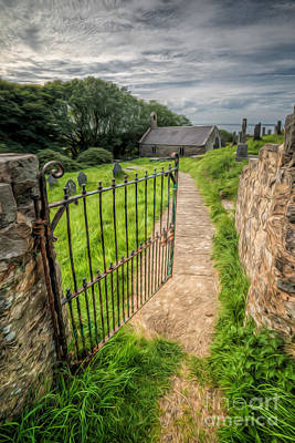 Gate Photograph - Sacred Path by Adrian Evans