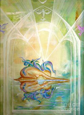 Wall Art - Painting - Sacred Reflection by Shakaya Leone
