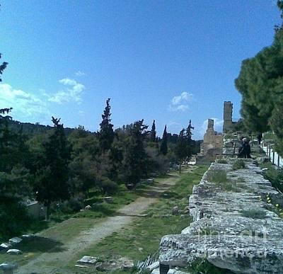 Photograph - Sacred Sanctuary Under Acropolis by Katerina Kostaki