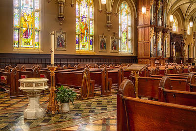 Our Lady Of Mt Carmel Photograph - Sacred Space - Our Lady Of Mt. Carmel Church by Lindley Johnson
