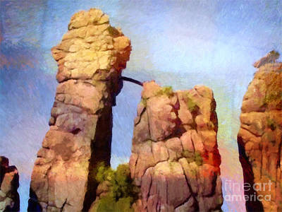 Power Painting - Sacred Stones Germany by Lutz Baar
