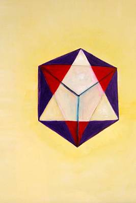 Painting - Sacred Triangle  As Above So Below by Phoenix De Vries