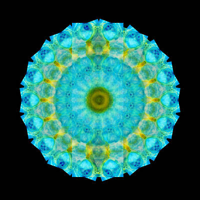 Kaleidoscope Painting - Sacred Voice - Mandala Art By Sharon Cummings by Sharon Cummings