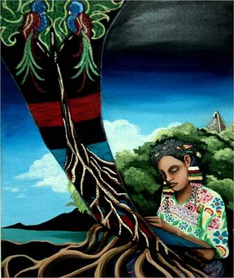 Mayan Painting - Sacred Weaver by Danielle Valdes Jimenez