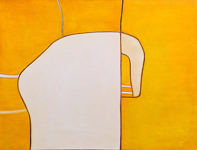 Painting - Sacred White Elephant In The Room by Judith Chantler