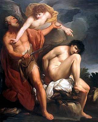 Painting - Sacrifice Of Isaac by Gregorio Lazzarini