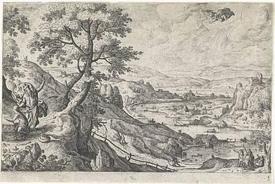 Tangle Drawing - Sacrifice Of Isaac, Hans Bol, Anonymous by Hans Bol