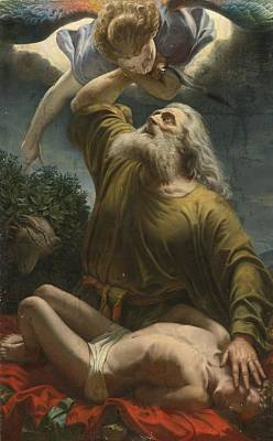 Painting - Sacrifice Of Isaac by Italian School