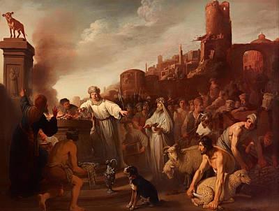 Christian Artwork Painting - Sacrifice Of Jereboam by Mountain Dreams