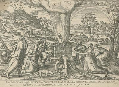 Sacrifice Of Noah, Attributed To Symon Novelanus Art Print by Symon Novelanus