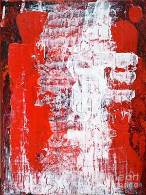 Sacrifice Red White Abstract By Chakramoon Art Print by Belinda Capol