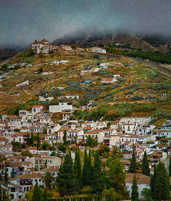 Sacromonte And Albayzin From The Alhambra Art Print